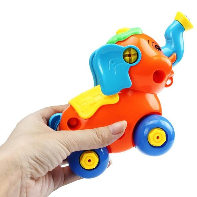2017 HOT Christmas Gift Disassembly Elephant Car Design Educational toys for children Levert Dropship Y7824