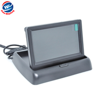 4.3 Foldable TFT Color LCD Car Reverse Rearview Monitor 16:9 4.3 inch car Monitor for Camera DVD VCD camera DC 12V