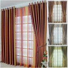Cortinas para barriga a alta qualidade, cortina minimalista moderna para sala de estar quarto uma sombra