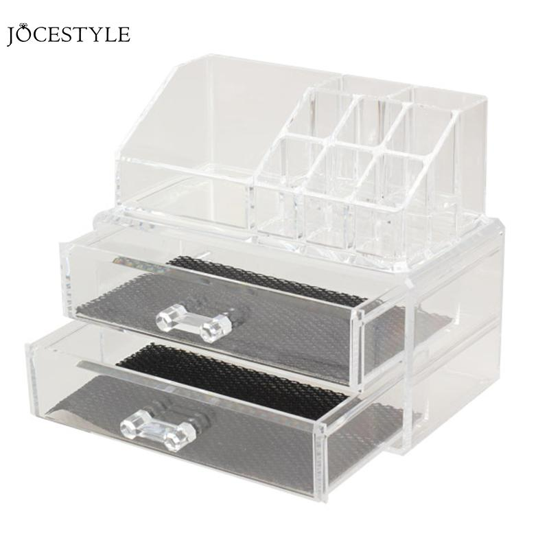 все цены на High Transparent Acrylic Cosmetic Organizer Drawer Makeup Jewelry Case Storage Insert Holder Box Organizer