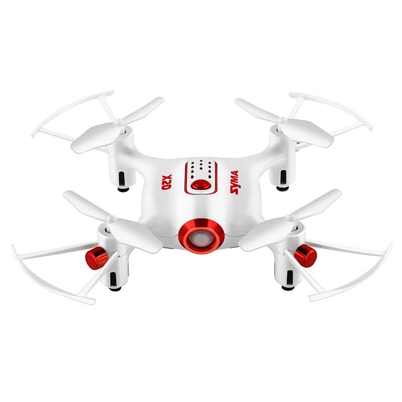 SYMA X20 Mini Drone 2.4G 4CH 6 Aixs poche Drone RC 3D Flips et rouleaux maintien d'altitude quadrirotor hélicoptère télécommandé