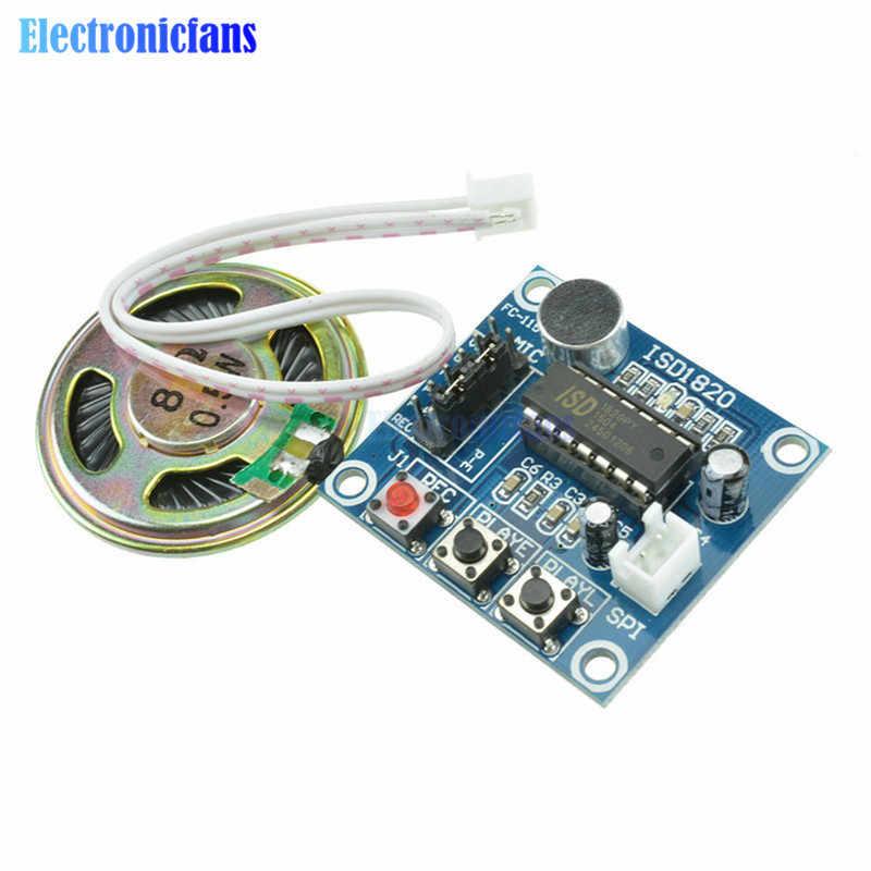 ISD1820 Module enregistreur d'enregistrement Module vocal la carte du Module téléphonique de la carte vocale avec Microphones + micro haut-parleur Audio
