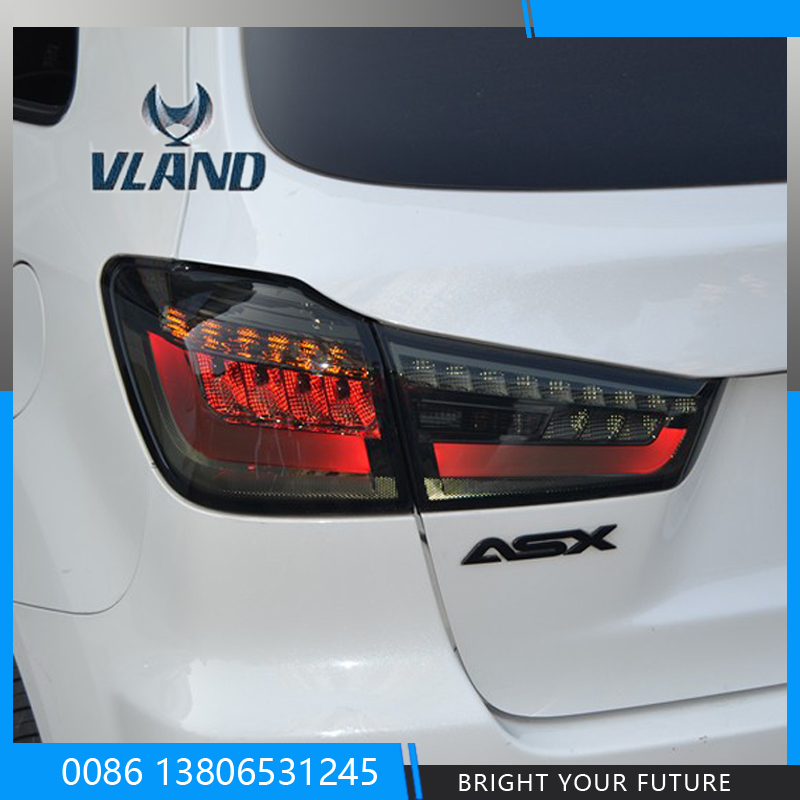 LED Tail Lights Rear Lamps For Mitsubishi ASX Out Lander 2012 2013 2014 Modified LED Rear Lamps Red l r led clear red tail lights for mondeo fusion 2013 2016 rear lamps