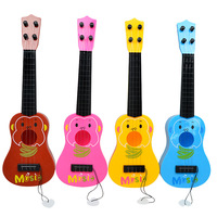 Mini musical instrument new children's little Guitar Toy 4 string can play early education puzzle
