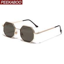 Женские и мужские винтажные солнцезащитные очки peekaboo металлические
