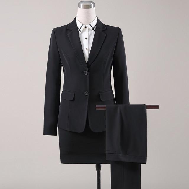 0e9ef01521a Aliexpress.com : Buy ACRMRAC Women suits autumn Slim Long sleeve jacket  Suit pants OL Formal Women pants suits Womens business suits from Reliable  ...