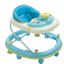Multifunctional Baby Walker Light Weight Baby Walking Learning Car Anti Rollover Safety Folding Music Box Toddler Walker