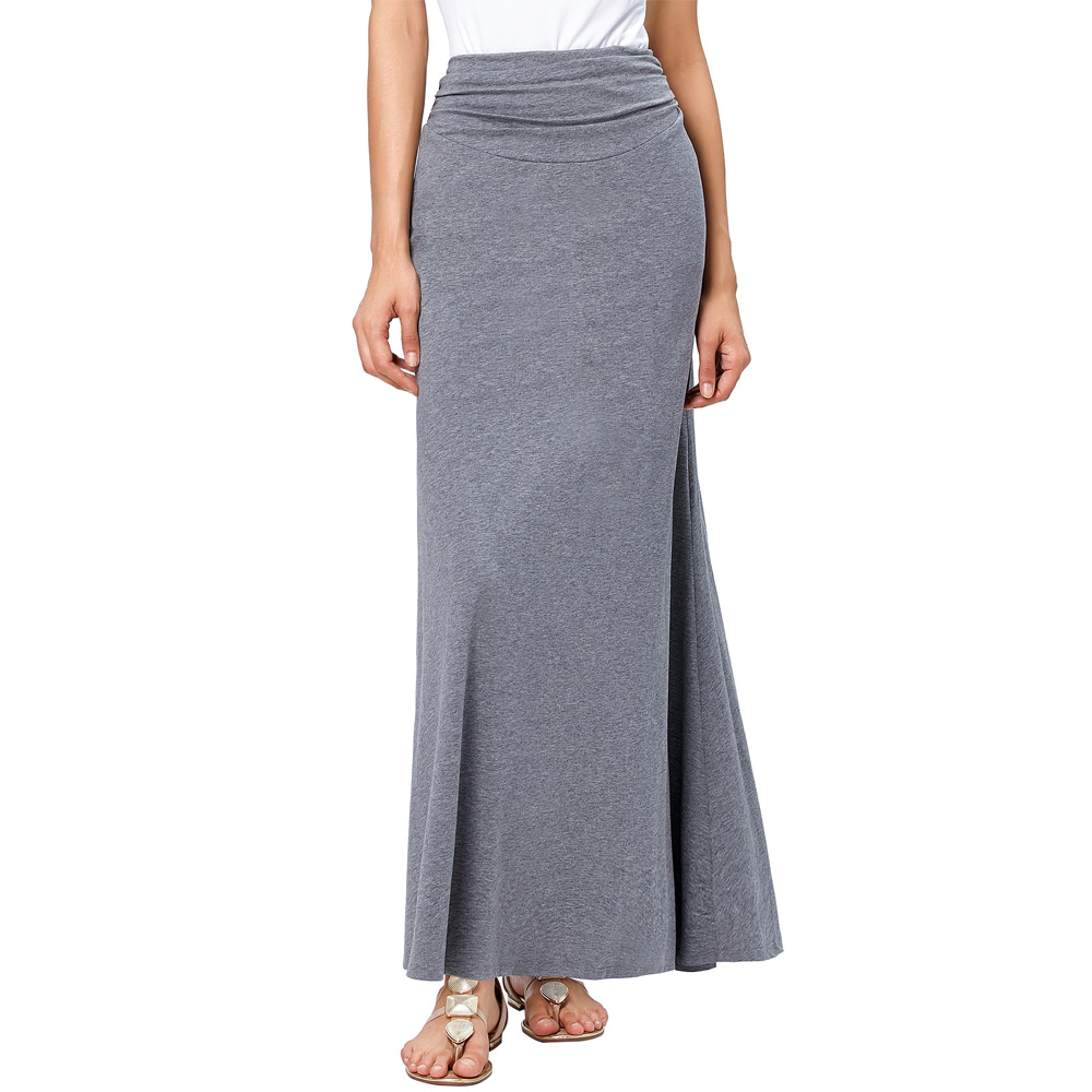 Online Buy Wholesale grey maxi skirt from China grey maxi skirt ...