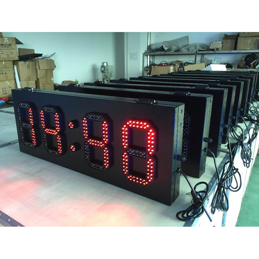 P8 800x305mm LED Time Screen 6'' 8'' 10'' 12'' 15'' LED Temperature Screen Outdoor High Brightness LED Lamp For Led Display