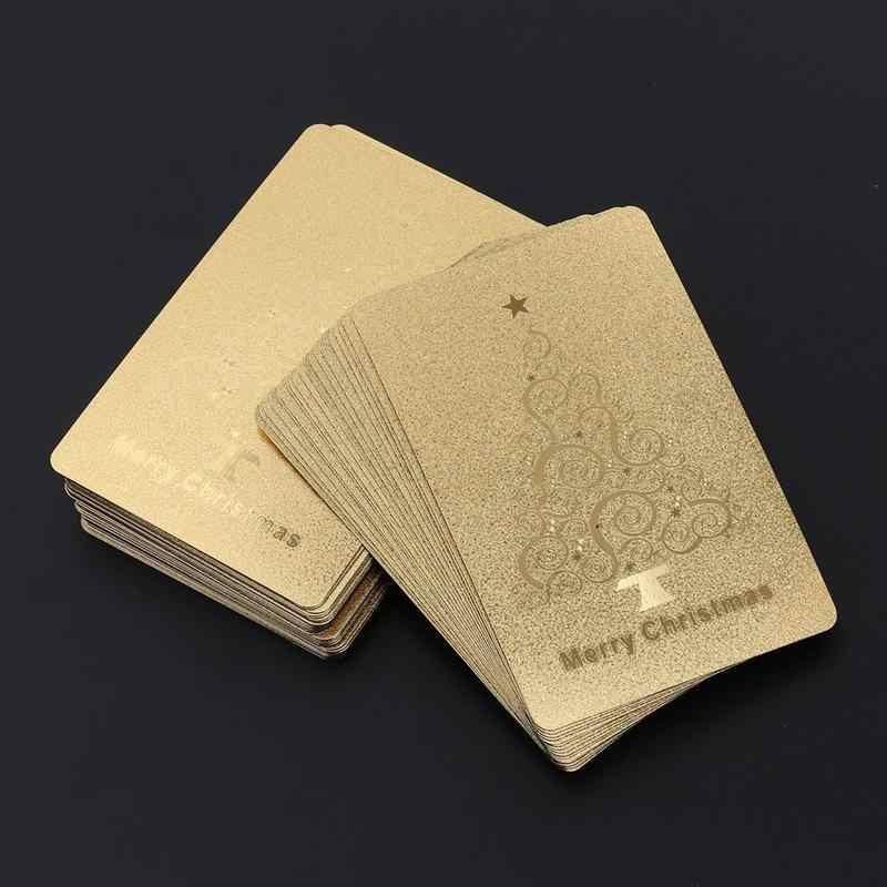 Золото Фольга игральных карт покрытием с Рождеством Христовым покер настольные игры Джокер палубе (золото)