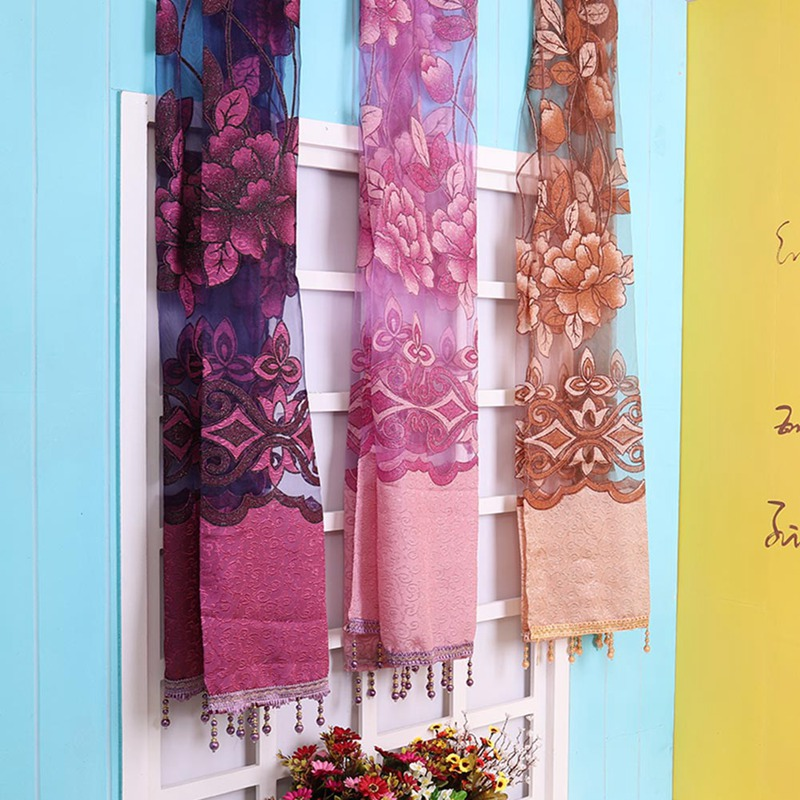1 Pc Curtain And 1 Pc Tulle Peony Luxury Window Curtains: Hot Sale 1pc Home Textile Flower Embroidered Luxury 3D