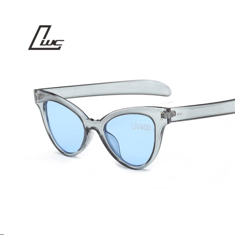 Caurspīdīgas kaķu acu saulesbrilles sievietes zīmola dizainere Vintage Cateye saules brilles Sieviešu Oculos De Sol Feminino Ladies Sunglases