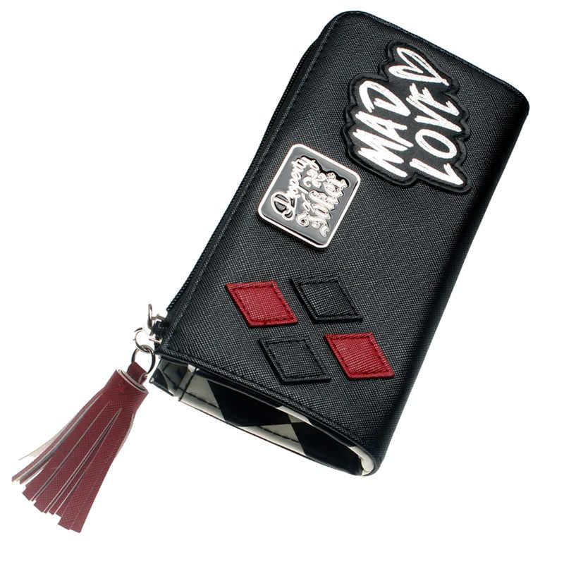 Harley Quinn Mad Love Zip alrededor de la cartera bolso de mano DFT-5510