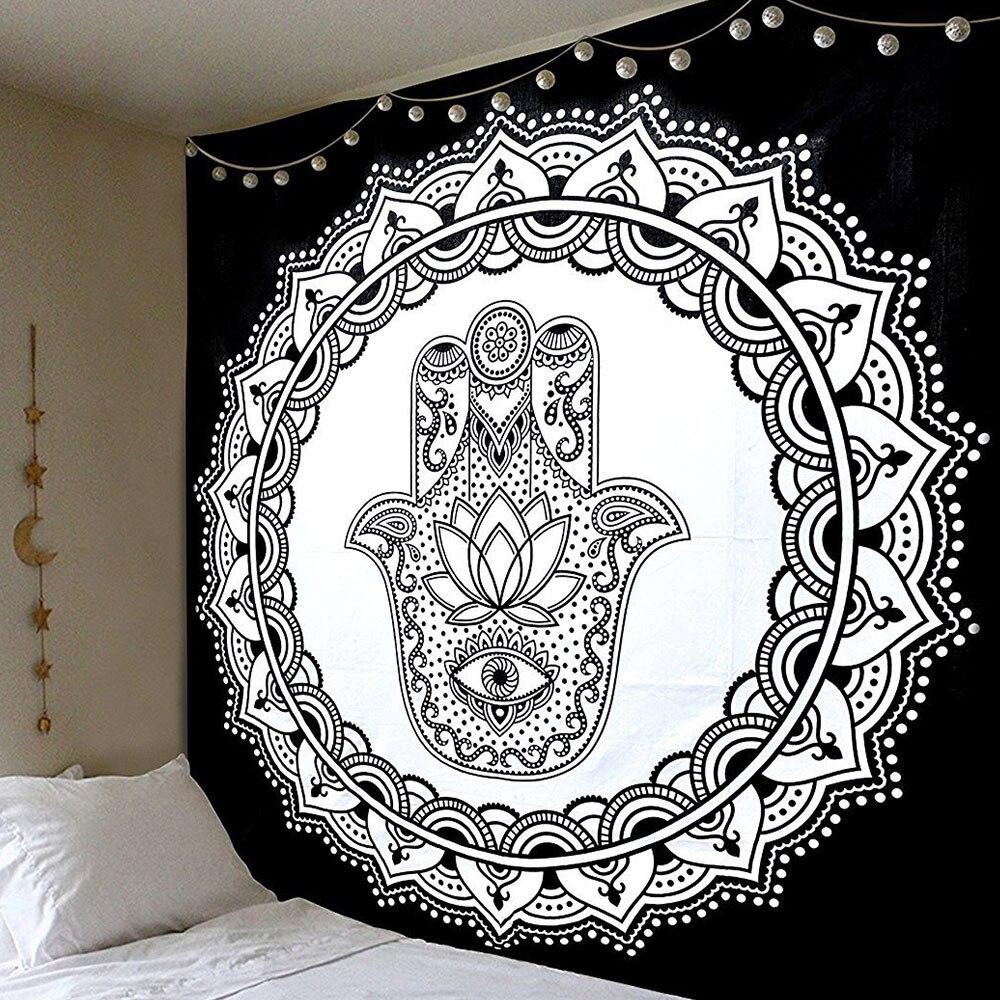 Полиэстер гобелены открытый ковры скатерть, диван бросает спинка кровати в современном стиле крышка спальный настенный солнцезащитный крем муслин пляжные коврики - Цвет: 1
