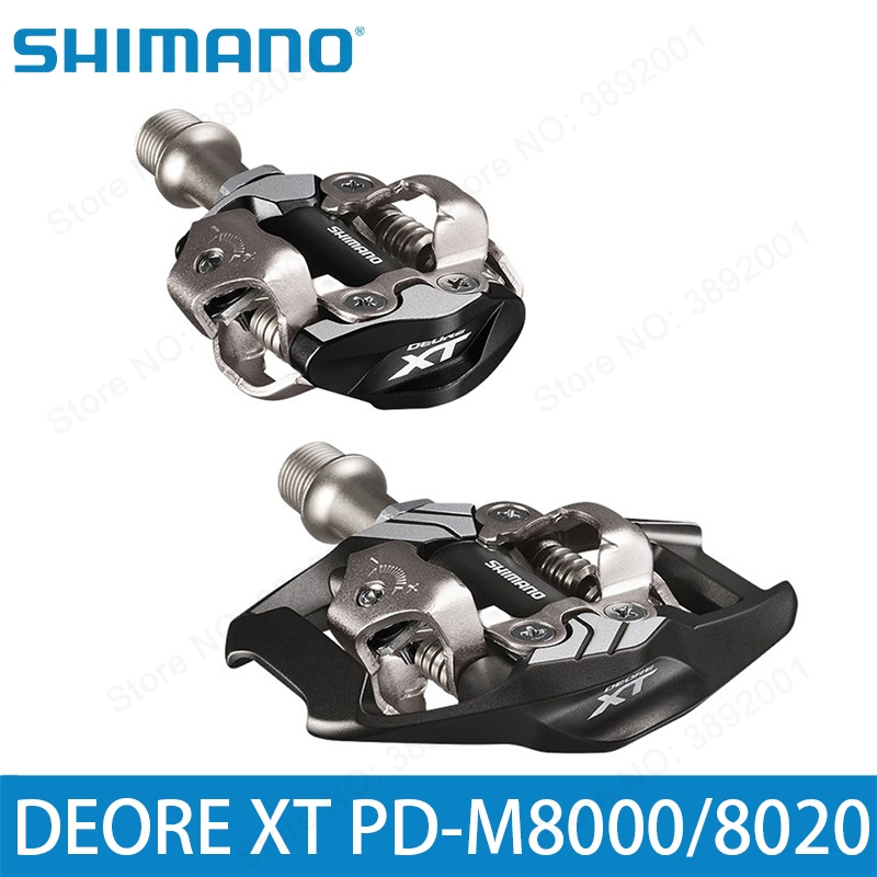 New Deore <font><b>XT</b></font> PD-M8000 <font><b>M8020</b></font> Self-Locking SPD Pedal MTB Components Using for Bicycle Racing Mountain Bike Parts m8000 pedals image