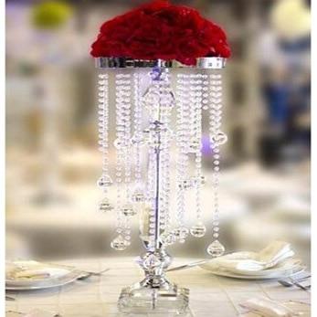 45cm High 6pcs Set Wholesale Crystal Flower Stand Wedding