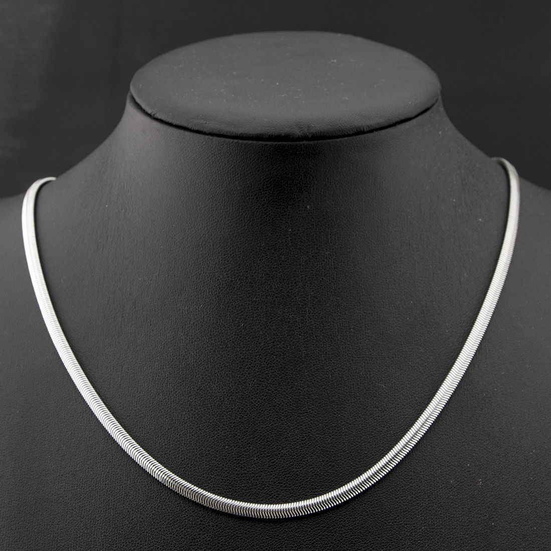 silver herringbone chain stainless steel 4mm man flat
