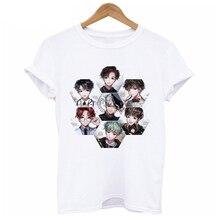 Mulheres tshirt bts suga V JUNGKOOK Impressão Camisas bts kpop Hip Hop bts  jimin k-pop Camiseta Manga Curta kpop bts T-shirt fem. adca50e90d3df