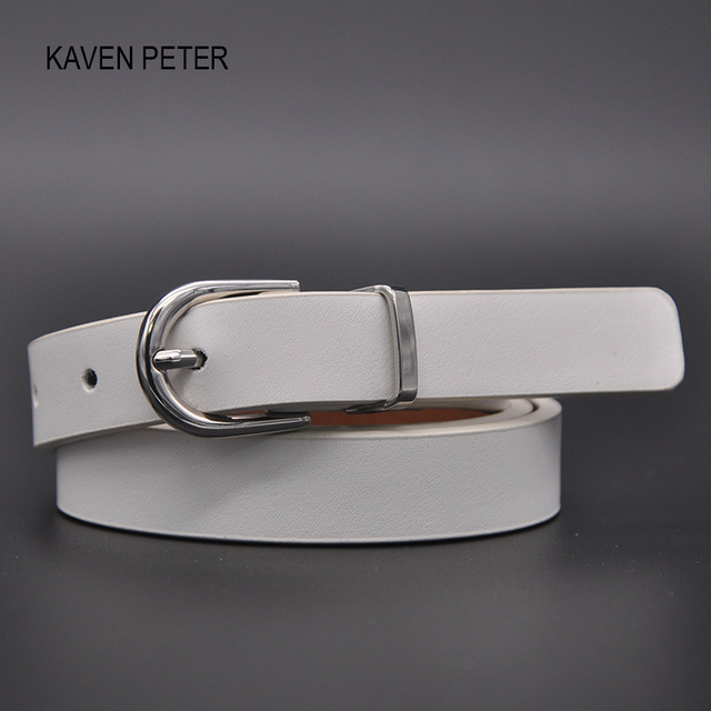 Lady White Pu Belt With Silver Buckle And Loop Simple Narrow White Belt For  Women Fashion Accessories Belt Free Shipping 4dab05deee3