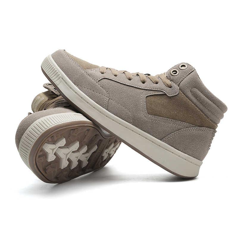 Vancat/Большие размеры 38-49, Теплые Зимние непромокаемые мужские ботинки из коровьей замши, парусиновые мужские зимние ботинки на меху, Сникерсы, мужские ботильоны