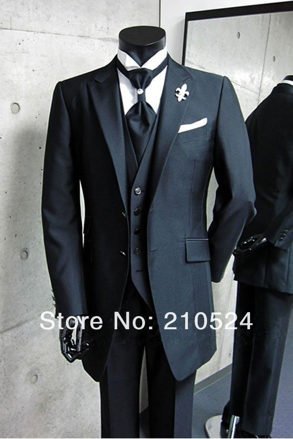 2017 Eurp Style Single Ted On Fly Smooth Vest Broom Men Suits For Wedding Long Jacket Tie Pants Napkin In From Weddings Events