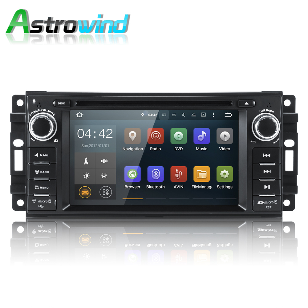 Android 7 1 system 2g ram car dvd player gps navigation system stereo media radio for chrysler