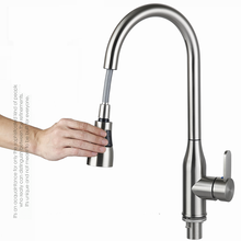 VIBORG Deluxe SUS304 Stainless Steel Lead-free Pull out Spray Kitchen Sink Faucet Mixer Tap Pullout Pull Down Sprayer Faucet