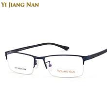 Yi Jiang Nan Brand Fashion Trend Half Rimmed Big Size  Quality GlassesMale Prescription Eyeglasses Frame