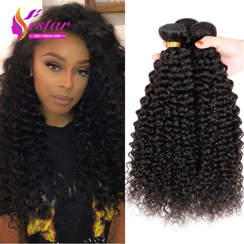 Cheap Malaysian Kinky Curly Hair Weave 7A Unprocessed