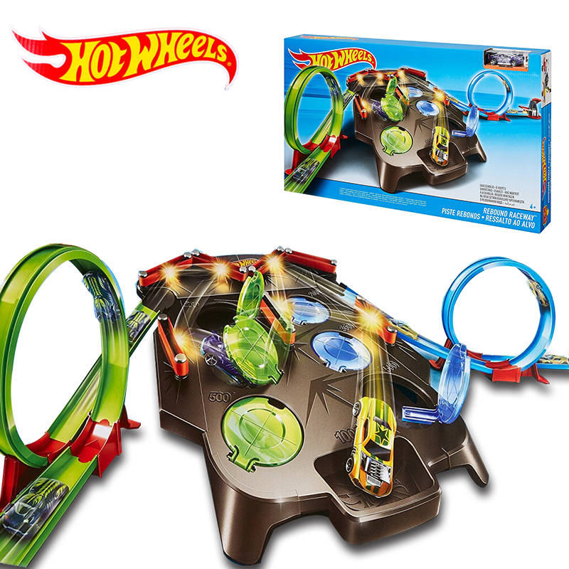 Hot Wheels Rebound Raceway Play Set Double Athletics Track Racing Toy Kids Educational Car Toys Birthday New Year Gift FDF27