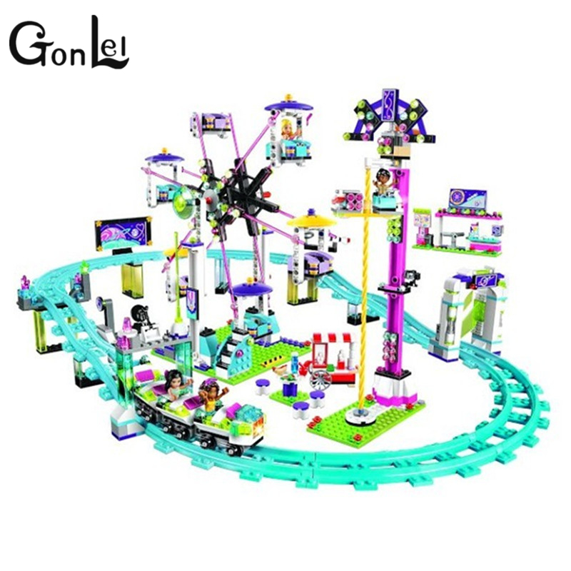 GonLeI BELA 10563 Model building kits compatible with lepin city girls friend Amusement Park 3D blocks Educational model toys bela 10439 compatible lepin city arctic helicrane building blocks policeman figure toys for children girls