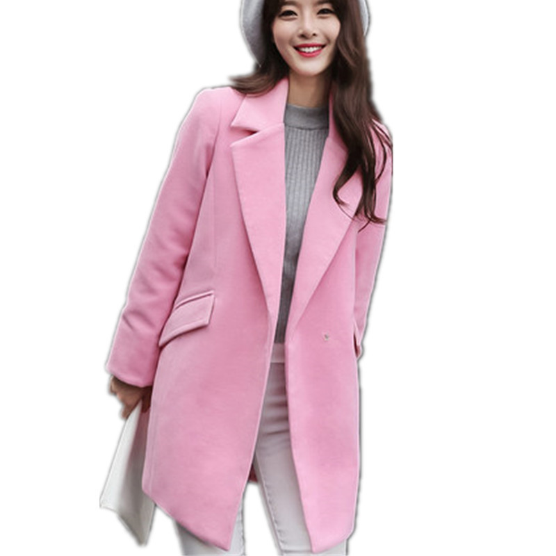 Popular Pink Wool Coat-Buy Cheap Pink Wool Coat lots from China ...