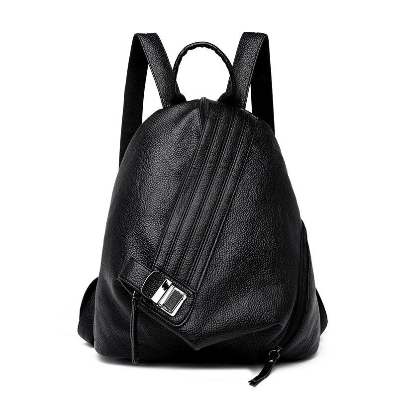 Mode Femme Sac À Dos En Cuir Femmes Designer Marque sac à dos de haute qualité Vintage sac à dos pour jeunes Filles Multifonctionnel