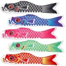 100cm Koi Nobori Carp Wind Socks Koinobori Colorful Fish Flag Hanging Wall Decor