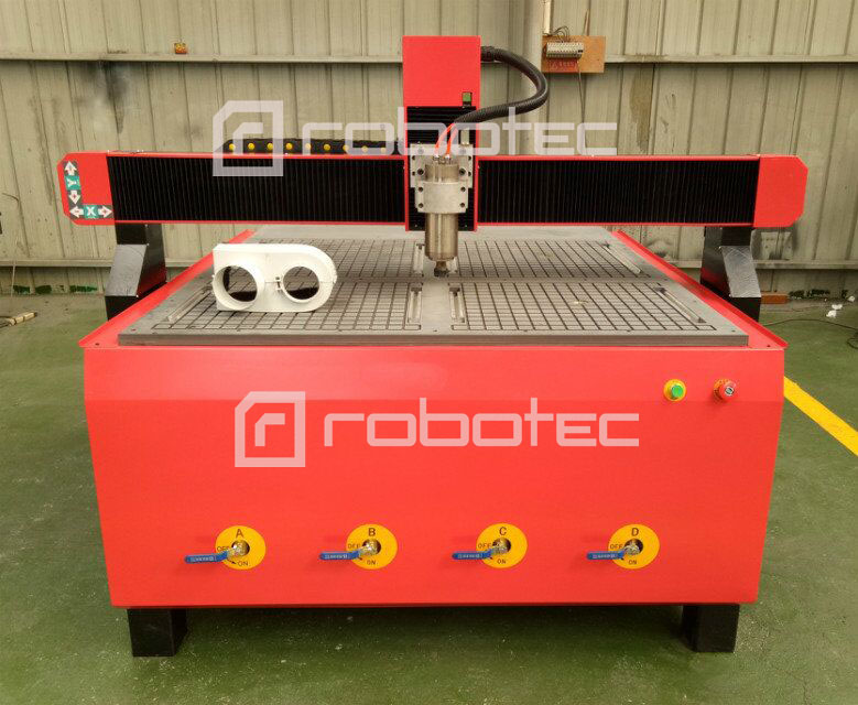 With rotary axis cnc 1212 router 4 axis for wood and marble