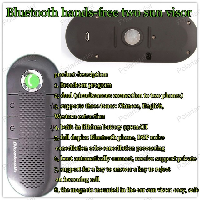 High Quality new Bluetooth mini car styling Bluetooth hands free car  Bluetooth hands free intercom system-in Bluetooth Car Kit from Automobiles  &