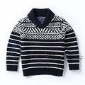 Новый 2014 весна осень детей свитер одежда мужчины пуловер свитер ребенок полосатый свитер дети куртки пальто