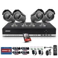 ANNKE 720P AHD CCTV System 4 Channel DVR 4PCS 1200TVL Night Vision IR CUT Camera Surveillance