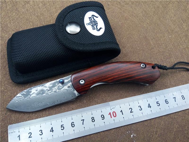 KESIWO KS065 Utility Folding Pocket Knife EDC Fishing Knife Damascus blade Outdoor Camping knife Quality survival Knife цены онлайн