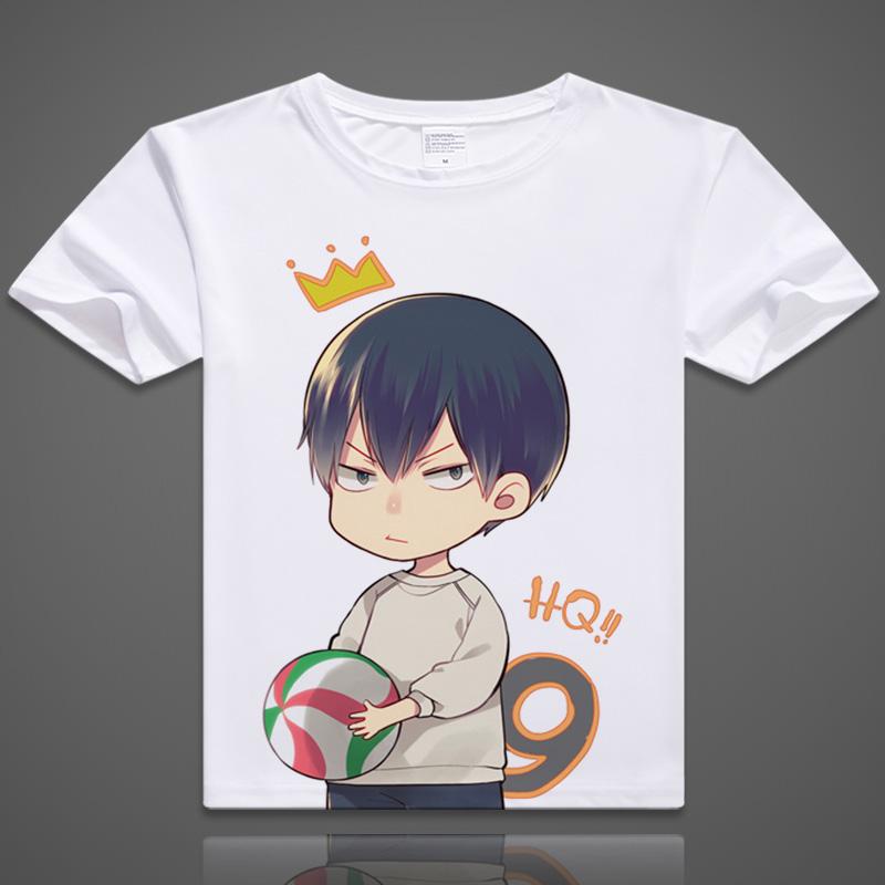 Coshome Haikyuu T-Shirts Hinata Shyouyou Kageyama Tobio Cosplay T shirts Costumes Men Women Short Sleeves Summer Tees Adult Tops (8)
