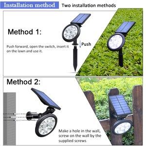 Image 5 - Upgraded Solar Spotlights Waterproof Adjustable 9 LED Wall/Landscape Solar Lights Colorful Solar Lamp for Yard Lawn Garden