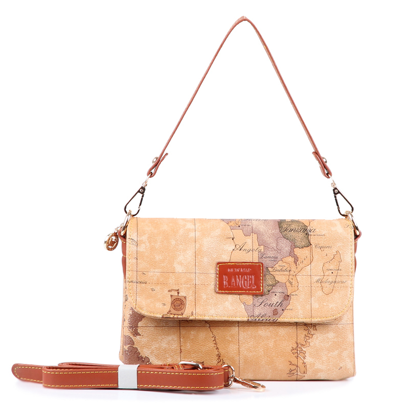 2016 fashion vintage women's handbag cross-body small shoulder bags world map bag #706 - SW Leather Factory store