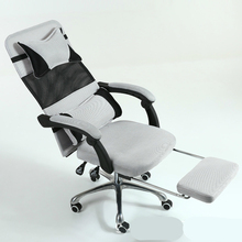 Light Ergonomics Computer Chair with Footrest Household Simple Swivel Chair Lifted and Rotation Multifunction Mesh Cloth Chair цена 2017