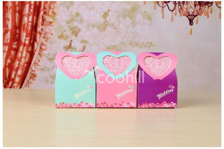 Us 15 99 50pcs Heart Pattern Candy Boxes Wedding Favors Box Sweets Chocolate Box Party Gift Bags Decorations Small Size 12 7 5 7cm On Aliexpress Com
