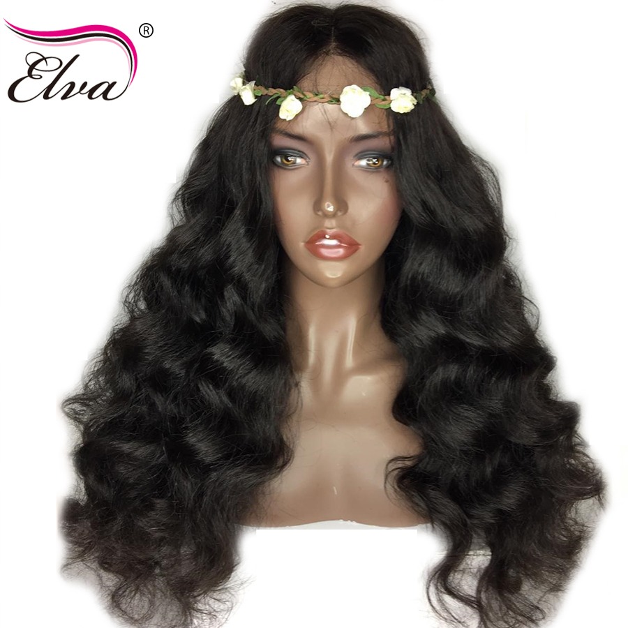 Elva Hair Body Wave Lace Front Human Hair Wigs With Baby Hair Pre Plucked Hairline 10″-26″ Natural Color Brazilian Remy Hair Wig