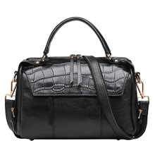 Fashion handbags leather crocodile simple atmosphere Xiekua package tassel zipper bag