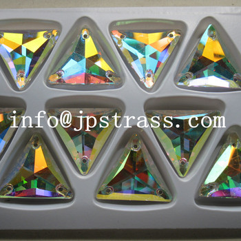 super  shape with sew-on flat back with ab crystal 300 pcs  per packs  16*16mm free shipping sewing crystal beads
