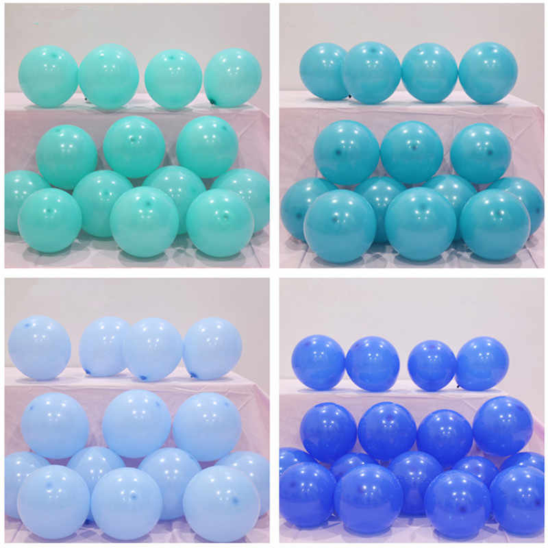 5pcs 12 Inch 2.2g High Quality Blue Latex Balloons Air Balls Inflatable Wedding Birthday Party Decorations Float Macaron Ballons
