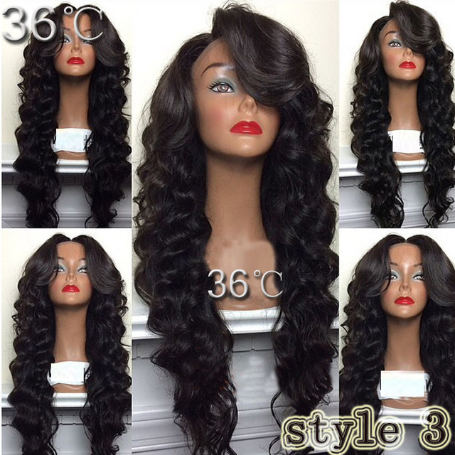 150% Density Unprocessed Virgin Peruvian Full Lace Wig /Lace Front Wig  Body Wave Glueless Full Lace Human Hair Wigs