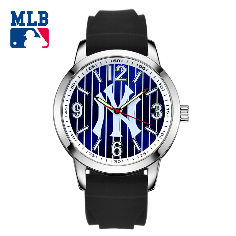 MLB NY series fashion sport lover watch luminous waterproof wristwatch silicone band  quartz  for men and women watches SD010